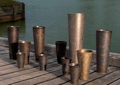 Vases coniques Jaune de Chrome